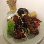 Assortment of sweets at dinner