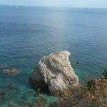 Spiaggia di Sansone dall'alto
