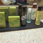We enjoyed the bath products