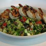 Chopped Greek Salad with Shrimp
