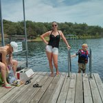 Swim deck on dock!