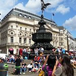 EROS Fountain at Piccadilly Circus