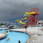 Dual water slides