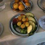 Hotel Georg Herzog, wenig appetitlich ist nicht nur das Obst beim Frühstück