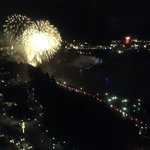 View of fireworks from the 27th floor