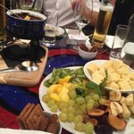 Chocolate fondue at Tian Bistro