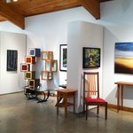 Allanstand Interiors is on the second level of Folk Art Center and features studio furniture.