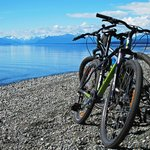 Cycling just north of Te Anau