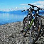 Cycling just north of Te Anau