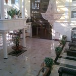 Rumia, Hotel Faltom - View of the entrance from the balcony of breakfast area
