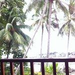 Der Ausblick von unserem Balkon