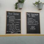 tapas y menu