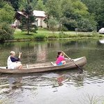 canoeing on the pond