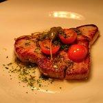 Swordfish, salsa verde.