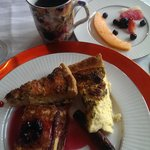 Quiche, Huckleberry French Toast