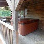 Hot tub area