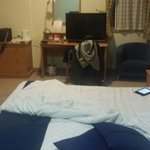 Poor positioning of TV to bed.
