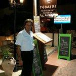 Manolis, the owner, of Pegasus restaurant.