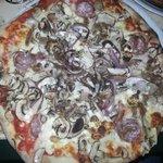 maltese pizza. Big in size.