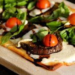 eggplant, fresh mozzerella, basil and cherry tomatoes