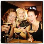 happy bar customers with espresso martinis