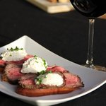 one of our favourites...roast beef crostini with horseradish whipped cream