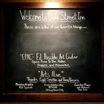 Blackboard lists local arts venues and events.