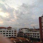 Vista hacia el mar desde el balcon de mi cuarto