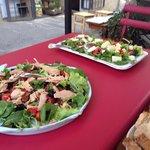 Tina salad and mixed salad, everything so very tasteful!