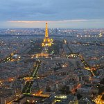Paris in the dusk from the top of Tour Montparnasse