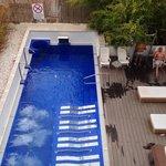 relaxing spa pool