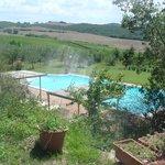 la piscine avec vue sur la campagne toscane ...
