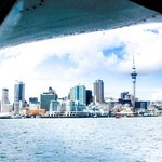 Auckland skyline from the seaplane