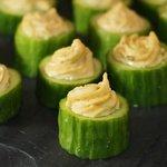 Cucumber Hummus Hors D'ouevres