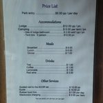 Price list as of August 2014