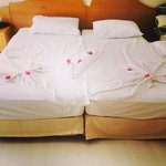 Different designs on a daily basis..fab housekeeping staff..��