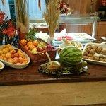 Zona das frutas no refeitório