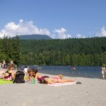 The lake and beach