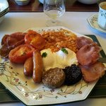 Full Irish Breakfast with poached eggs...and beans on the side