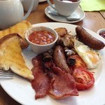reasonable breakfast - I was given the extra sausage!!