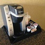 Cafetera en la habitación