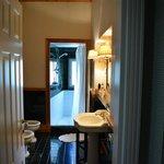 The wonderful bathroom and shower
