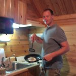 cooking in the cabin
