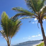 St Croix Sea Plane flying over hotel