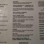 Updated menu
