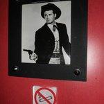 No quarto que hospedamos homenagem ao James Garner