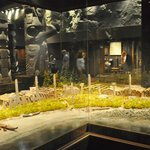 diorama of 1st nation village showing how totems used