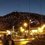 La Plaza de Armas de noche