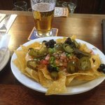Blue Star Lunch Nachos and a Beer