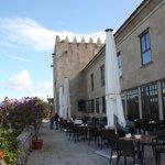 Baiona - Terraza de la cafeteria del Parador de Turismo Conde de Gondomar